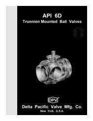 API 6D Trunnion Mounted Ball Valve - Dpv-uk.com