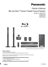 Owner's Manual Blu-ray DiscTM Home Theater Sound System