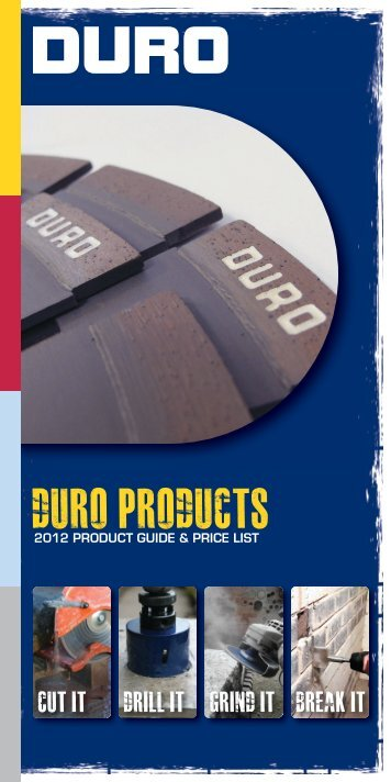 DURO PRICE LIST 2012 SINGLE PAGES.indd