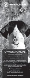 OWNERS MANUAL - Tri-Tronics