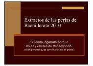 Extractos de las perlas de Bachillerato 2010 - Wikiblues.net