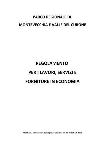 Allegato regolamento - Parco di Montevecchia e della Valle del ...