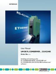UM EN FL COM SERVER RS232/422/485 - Phoenix Contact