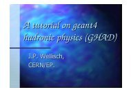 A tutorial on geant4 hadronic physics (GHAD) - Geant4 - CERN