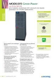 Dokumentation Modulys Green Power - Socomec