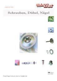 H10: Schrauben, Dübel Nägel - Holz-TRAT Ideen in Holz