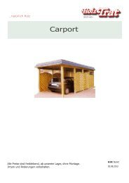 G10: Carport - Holz-TRAT Ideen in Holz