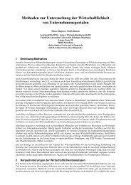 Methoden zur Untersuchung der Wirtschaftlichkeit von - WiBe.de
