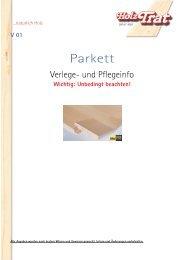 Parkett - Holz-TRAT Ideen in Holz