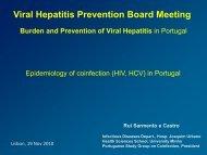 in Portugal - Viral Hepatitis Prevention Board