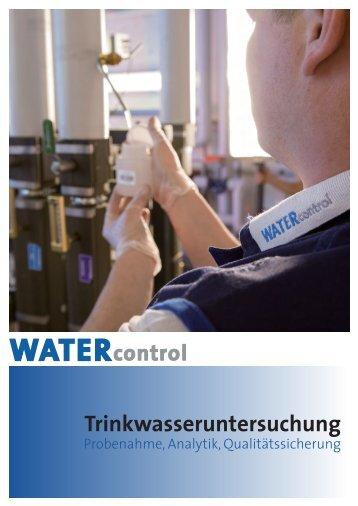 WATERcontrol-Kurzinfo 2013 zur Trinkwasseruntersuchung