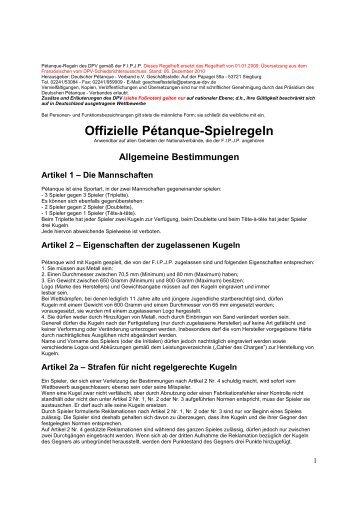 101206 PétanqueRegeln 2010 DPV - Bornheimer Boule Club