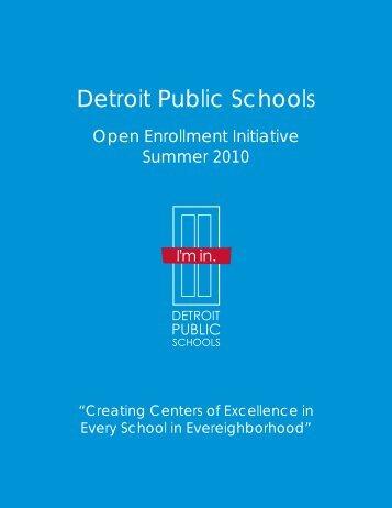 Open Enrollment Guide - Detroit Public Schools