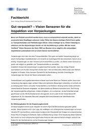 Gut verpackt? – Vision Sensoren für die Inspektion von Verpackungen
