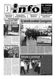 Új iskolát avattak Csongoron - Kárpátinfo.net