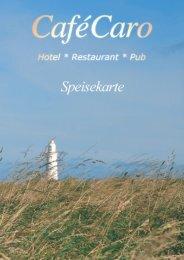 Speisekarte - Hotel Cafe Caro