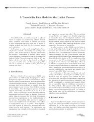 A Traceability Link Model for the Unified Process - TU Ilmenau