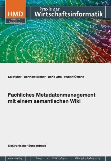Fachliches Metadatenmanagement mit einem semantischen Wiki