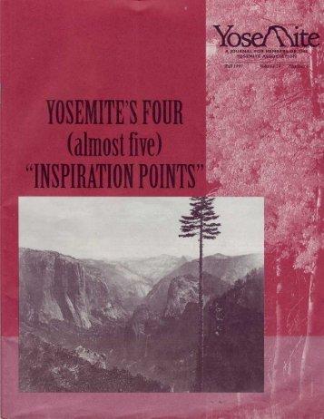 "YOSEMITE'S FOI1R (almost Cie) ""INSPIRATION ... - Yosemite Online"