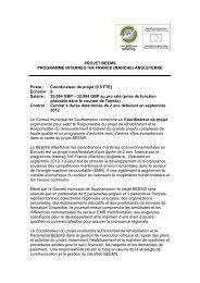 PROJET BEEMS PROGRAMME INTERREG IVA FRANCE (MANCHE)