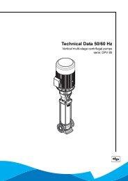 Technical Data 50/60 Hz - DP pumps