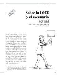 Sobre la LOCE y el escenario actual - Revista Docencia