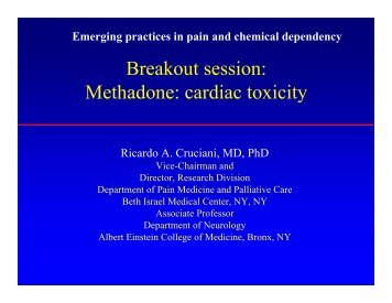 Methadone Cardiac Toxicity - Department of Pain Medicine and ...