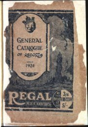 Regal General Catalogue of Records 1924 - British Library - Sounds