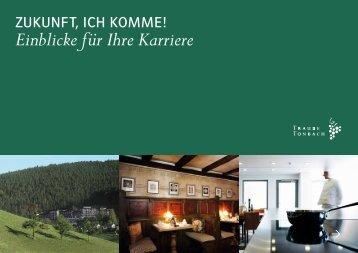 Einblicke für Ihre Karriere - Hotel Traube Tonbach