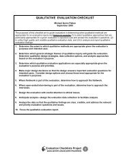 QUALITATIVE EVALUATION CHECKLIST