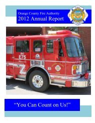 2012 Annual Report - Orange County Fire Authority