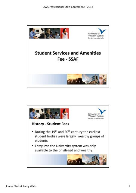 Student Services and Amenities Fee - SSAF