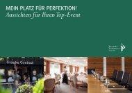 Aussichten für Ihren Top-Event - Hotel Traube Tonbach