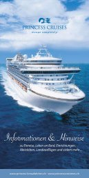 Informationen & Hinweise - Princess Cruises
