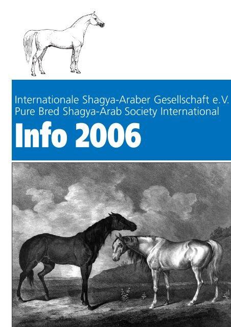Internationale Shagya-Araber Gesellschaft e.V. Pure Bred Shagya ...