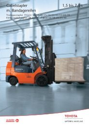 Gabelstapler 1,5 bis 7,0 t m. Bandagereifen - Toyota Material ...