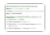 Satz (Kontraposition des PL für kontextfreie Sprachen). Wenn gilt ...