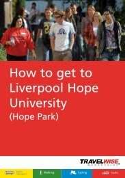 How to get to Liverpool Hope University - the TravelWise ...
