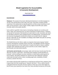 Economic Development Accountability Model ... - Good Jobs First