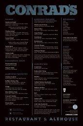 Download a PDF of our printed menu. - CONRAD'S Restaurant ...
