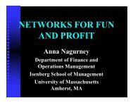 Networks - University of Massachusetts Amherst