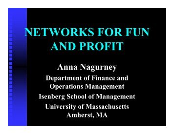 Networks - University of Massachusetts Amherst