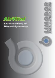 AirClean - System Kontrollierte Wohnraumlüftung mit ... - Trivent AG