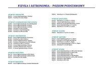 fizyka i astronomia – poziom podstawowy - Polska
