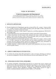 ALLEGATO A Criteri di Assegnazione dei Finanziamenti - Europroject