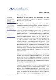 Press release - Mosaiques Diagnostics