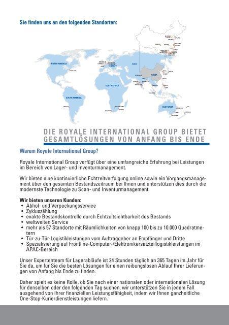 Lagerhaltung, Logistik & Distribution Services - Royale International ...