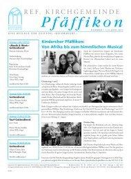 Ausgabe vom 29.06.2012 - Ref. Kirchgemeinde Pfäffikon