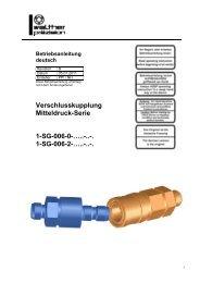 Mitteldruck-Kupplung, Type SG-006, Rev-B - Carl Kurt Walther ...