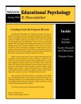 Educational, School, & Counseling Psychology E-Newsletter Inside - Page 4